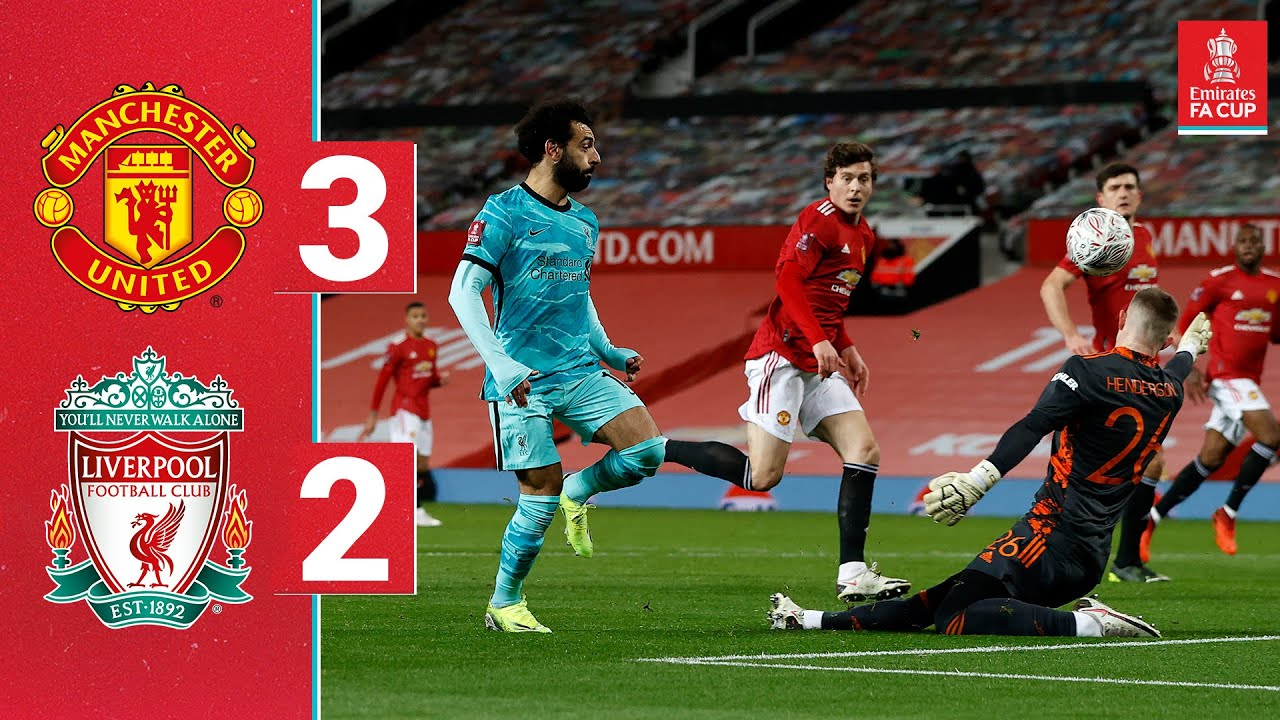 Highlights Man Utd 3 2 Liverpool Salah Nets Twice But Reds Go Out Of The Fa Cup Youtube