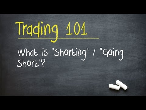 "Trading 101: What is ""Shorting"" / ""Going Short""?"