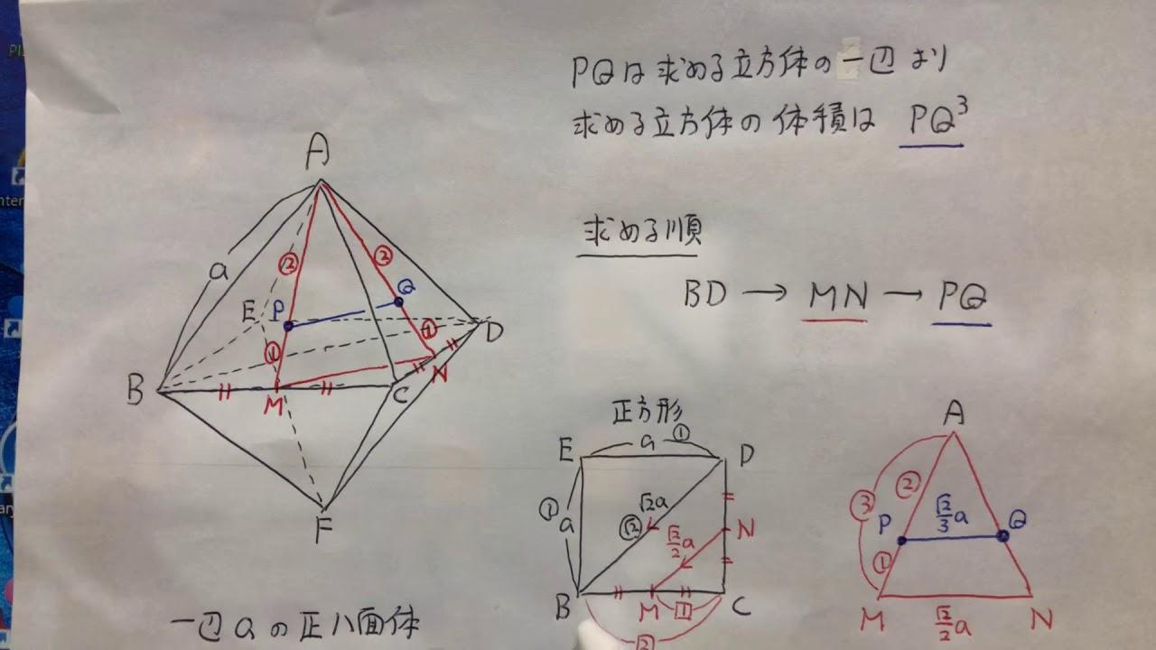 正八面体に内接する立方体の体積」問題の分かりやすい解説!! - YouTube