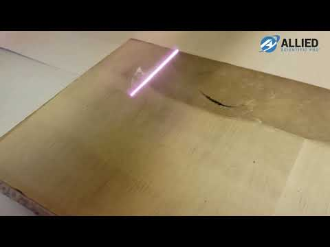 LaserArt Cleaning System -  Removing Soot from Drywall