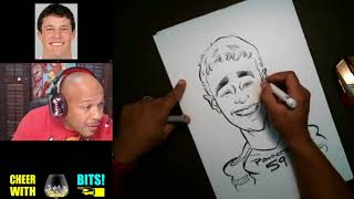 How To Draw a Caricature Luke Kuechly