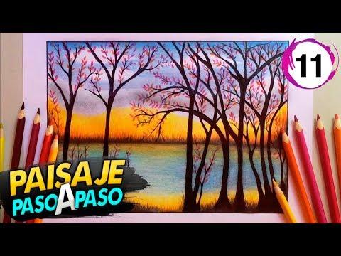 Paisaje A Color Con Lápices De Colores Paso A Paso 11 Youtube