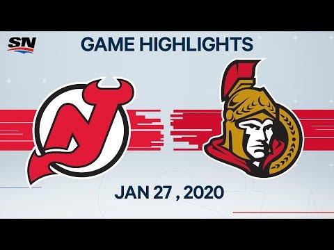 NHL Highlights | Devils Vs. Senators – Jan. 27, 2020
