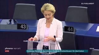 Europaparlament: Bewerbungsrede von Ursula von der Leyen zum EU-Kommissionsvorsitz am 16.07.19
