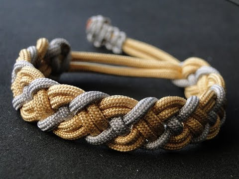 How to Make a Paracord Celtic Bar Bracelet- Mad Max Style Closure- Vikings Style Bracelet