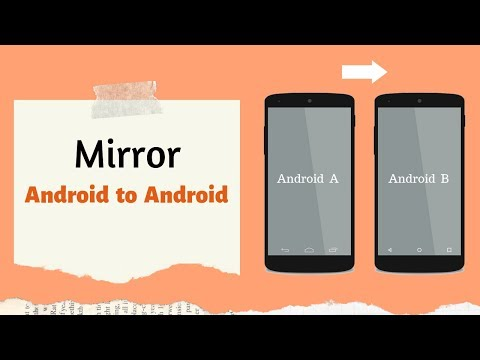 How To Mirror Android To Android Without Internet  📱➟ 📱