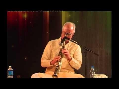 Phil Scarff, Soprano Saxophone, ICCR concert, New Delhi, Raga Shree