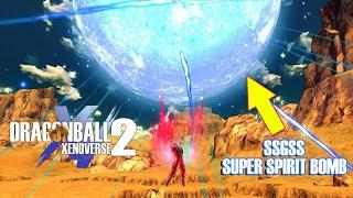 Ssgss super spirit bomb !?   goku vs jiren   xenoverse 2 mod