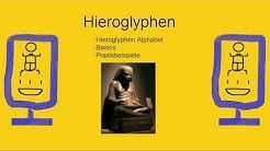 HIEROGLYPHEN einfach erklärt l Rundum Ägypten