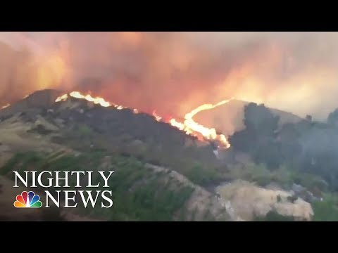 Heat And Wildfires Continue To Ravage The Western US   NBC Nightly News