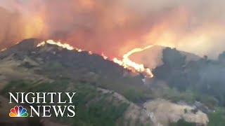 Heat And Wildfires Continue To Ravage The Western US | NBC Nightly News
