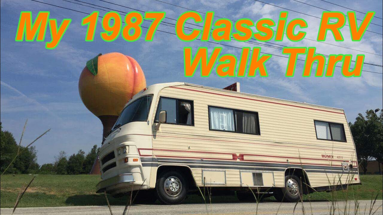 walk around tour of my classic 1987 honey rv class a motorhome [ 1280 x 720 Pixel ]
