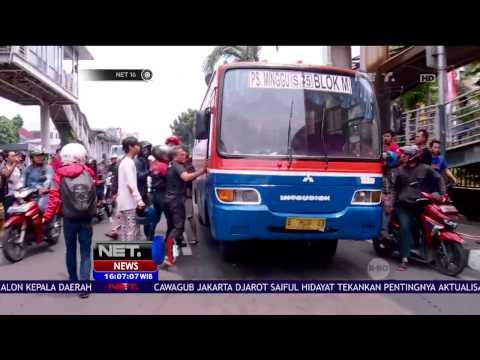 Metromini Tabrak Lari Pria yang Menyebrang jalan di Jalur Busway - NET16