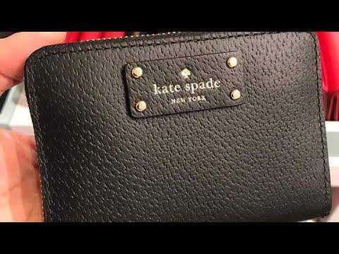 Kate Spade mini wallet review  #ASMR #JUSTJAJA