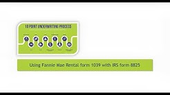 Using Fannie Mae Rental form 1039 to determine 8825 rental income