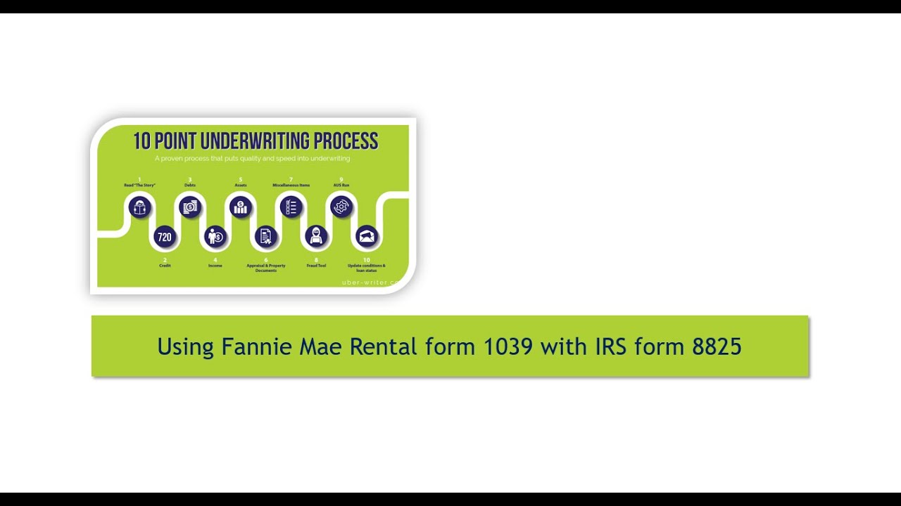 Using Fannie Mae Rental form 1039 to determine 8825 rental income ...