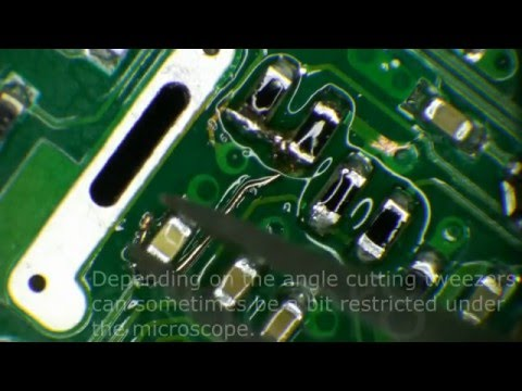 DAB Radio Repair - With close-up 0402 rework