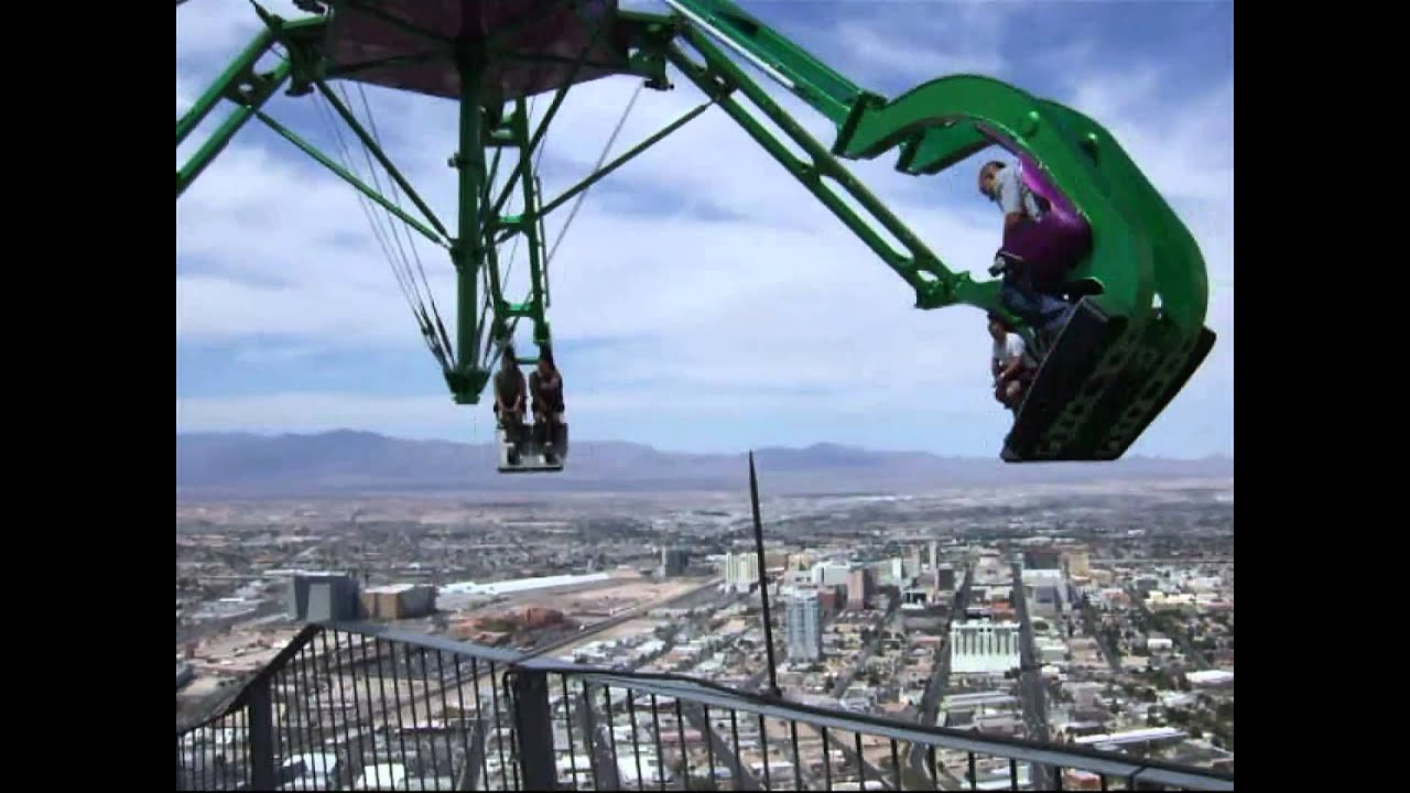 Las Vegas Crazy Stratosphere Insanity Roller Coaster Ride