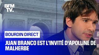 Juan Branco face à Apolline de Malherbe en direct