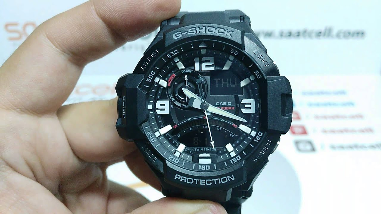 Casio G Shock Ga 1000fc 1adr Saat Modeli Inceleme Ve Ayarlama Youtube