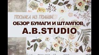 СКРАПБУКИНГ: обзор бумаги и штампов от A.B.Studio