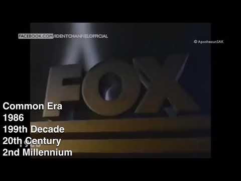 FOX Broadcasting Company Ident Every Timeline Standards