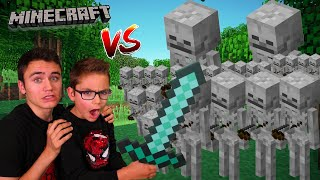 SWAN VS 1000 SQUEĻETTES !!! (Aventure Minecraft en Live)