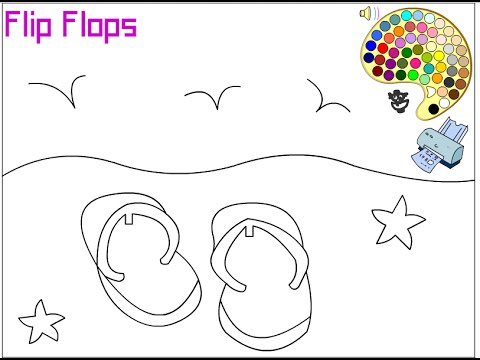 Flip Flop Coloring Pages For Kids
