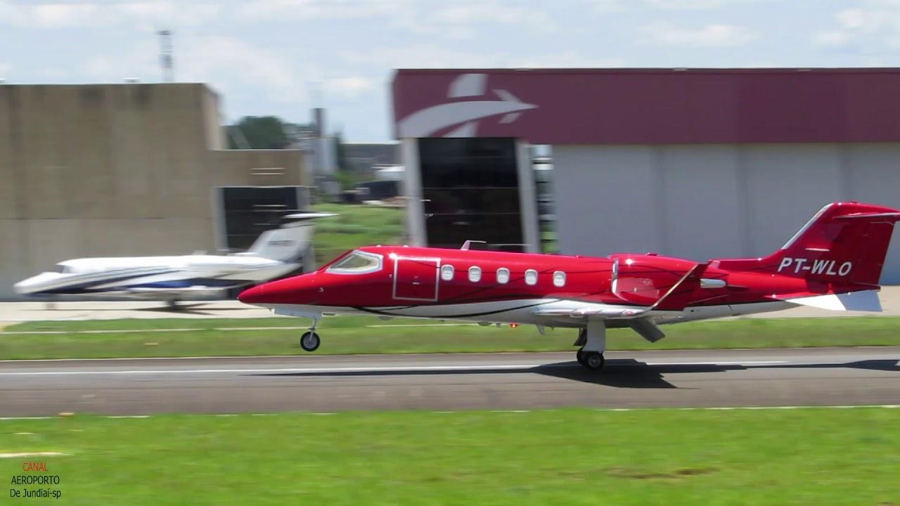 King Air B200,Pilatus PC-12,Citation CJ4,Learjet 31 e 40 Pousos e Decolagem Com Fonia