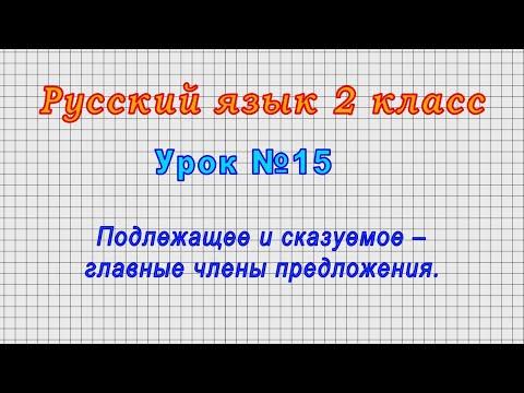 Видеоуроки 2 класс русский язык