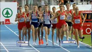 1500m men FINAL 20th European Athletics Championships Barcelona 2010
