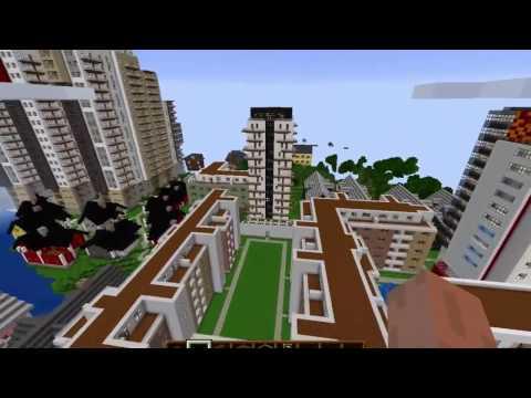 Minecraft stad (swedish) Minecraft city