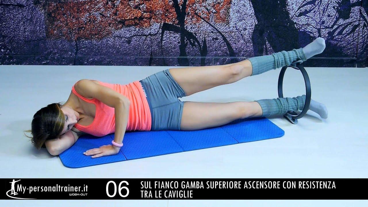 Pilates magic circle cerchio a resistenza total body for Interno coscia in palestra