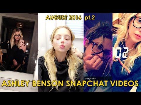 Ashley Benson | Snapchat Videos ft. Tyler Blackburn & Shay Mitchell | August 2016 pt.2
