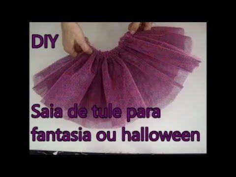 be5e4581f7 Saia de tule para fantasia DIY - YouTube