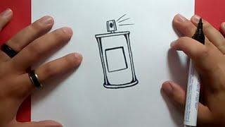 Como dibujar un spray paso a paso 2 | How to draw a spray 2