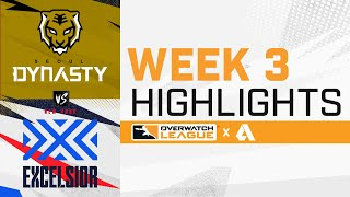 Seoul Dynasty VS New York Excelsior - Overwatch League 2021 Highlights   Week 3 Day 1
