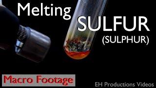 Melting Sulfur/Sulphur | Filmed in Macro