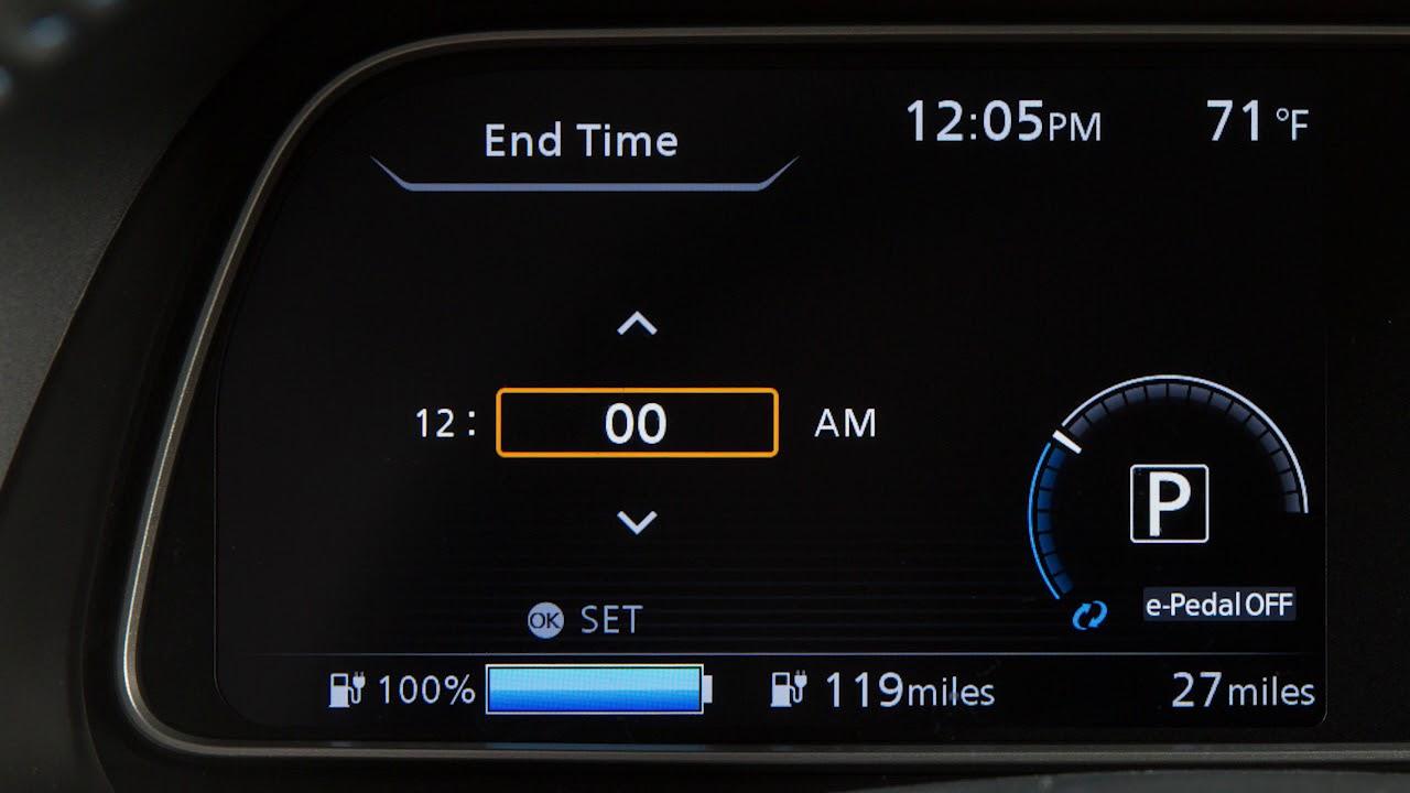 2018 Nissan Leaf Charging Timers