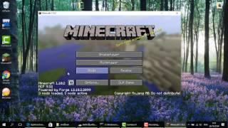 Minecraft 1.10.2 : วิธีลง Forge และ Optifine พร้อมกัน