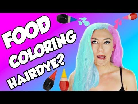 Beauty Hack or WACK? DIY HAIR DYE WITH FOOD COLORING | DIY UNICORN HAIR |