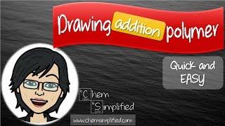 Drawing polymer | Addition polymerization | Easy way – Dr K