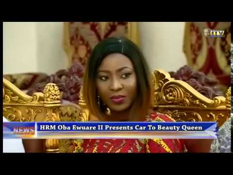 HRM Oba Ewuare II presents car to Beauty Queen