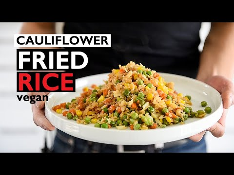 cauliflower-fried-rice-|-fast-dinner-idea-|-easy-vegan-recipes
