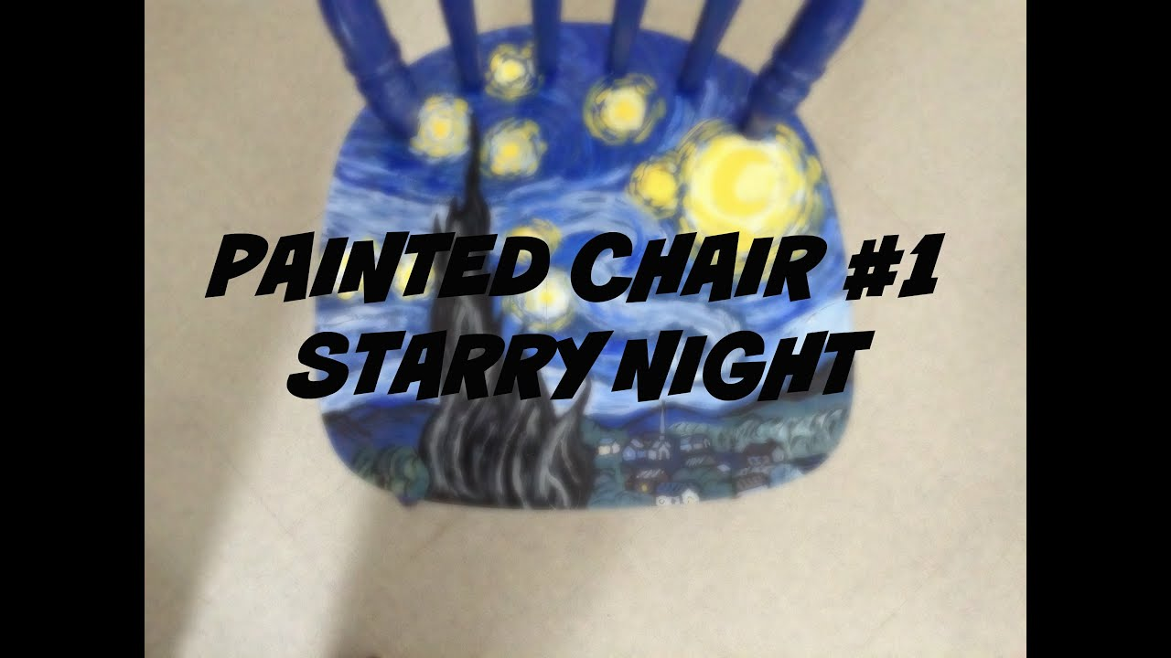 Painted Chair 01 My Creative Process (Starry Night) & Painted Chair 01: My Creative Process (Starry Night) - YouTube