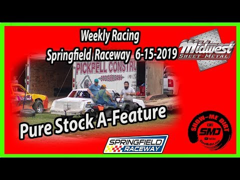 S03-E302 Pure Stock A-Feature Springfield Raceway 6-15-2019 #DirtTrackRacing