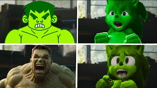 Sonic The Hedgehog Movie - Hulk Superheroes Uh Meow All Designs Compilation