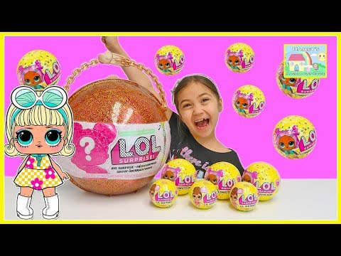 LOL Surprise Dolls Big Surprise with Fizz Ball Surprises & Confetti Pop LOL Dolls Toy Video