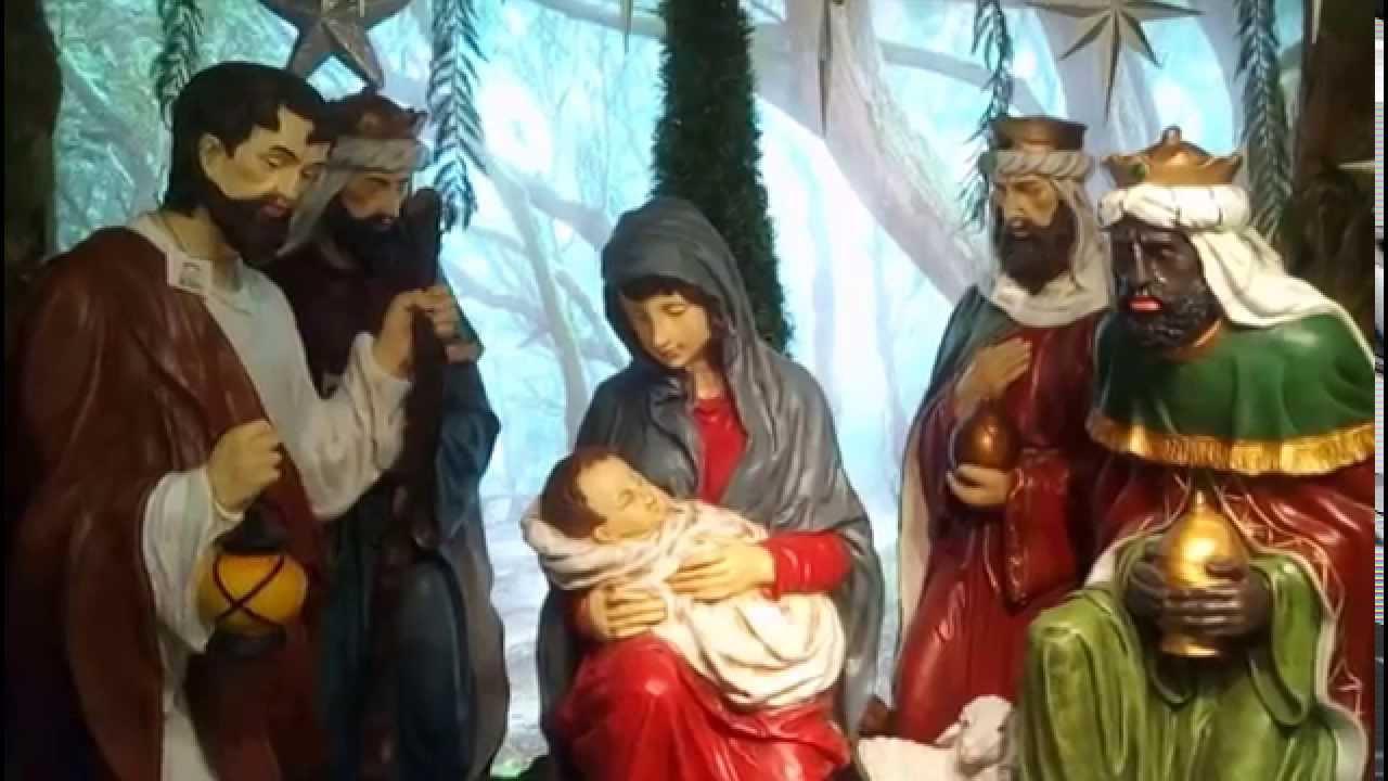 Figuras gigantes para pesebre navide o youtube for Ver figuras de navidad
