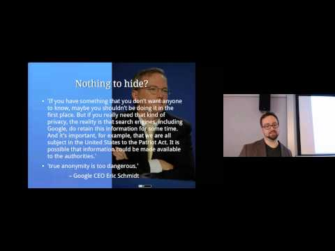 Privacy: Computer Security Lectures 2014/15 S1